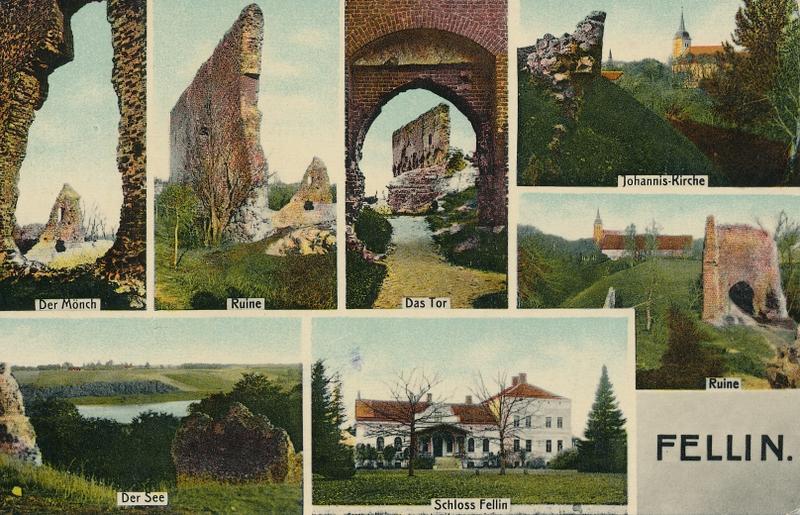 Koos muistse ordulinnuse varemetega oli Viljandi loss ehk Schloss Fellin juba tsaariajal üks Viljandi vaatamisväärsusi, mida kajastati toonastel postkaartidel